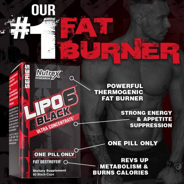 Lipo 6 Black (Ultra Concentrate) in Pakistan by Nutrex at  ShapedNutrition.pk | Best Price & Quality!